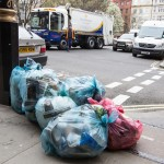 coloured bins and rubbish bags
