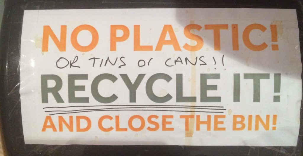 westminster recycling example signs