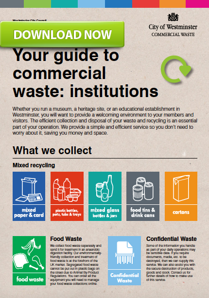 guide to reducing waste in institutions