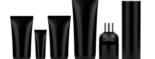 black plastic packaging