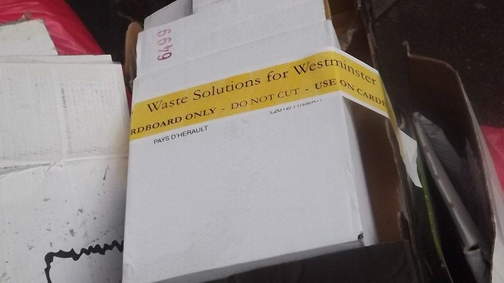 card recycling westmister