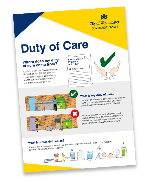duty of care westminster guidelines