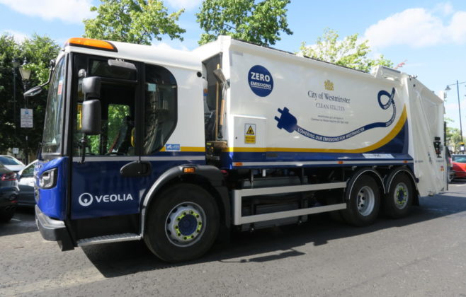 Innovation at Westminster City Council: expanding the electric refuse collection vehicle project