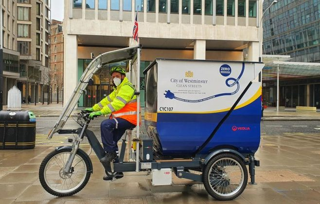 Trial of innovative electric tricycles in Westminster