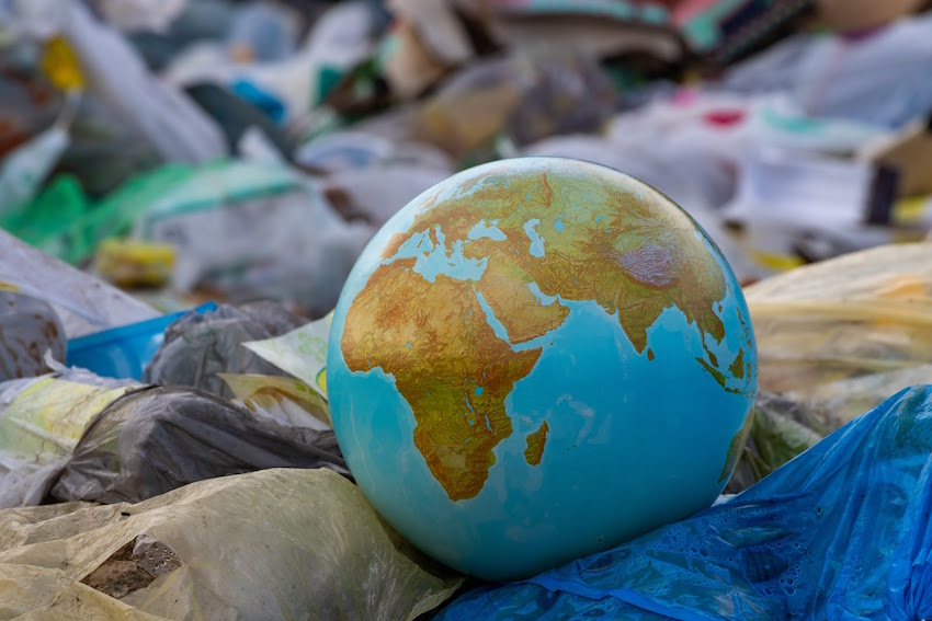 how much plastic waste in the world